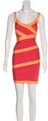 Herve Leger Bandage Mini Dress Orange Bandage Mini Dress