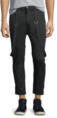 Helmut Lang Crop Suspender Trsr $345 thestylecure.com