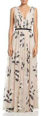 Laundry by Shelli Segal Shirred Sleeveless Gown