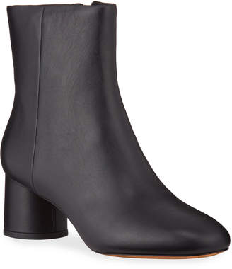 Vince Tillie Leather Cylinder-Heel Booties