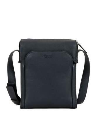 Giorgio Armani Men's Tumbled Calf Leather Crossbody Bag