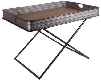 Urban Trends Collections Urban Trends Collection: Metal Table Galvanized Finish Gray