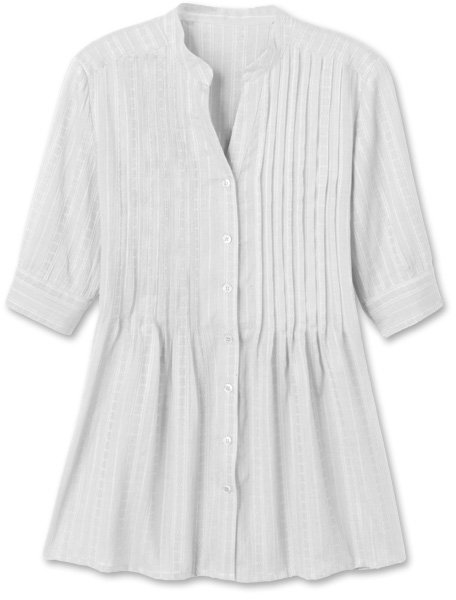 Textured pleated tunic