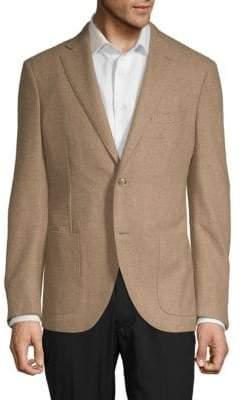 Luciano Barbera Notch Wool Sportcoat