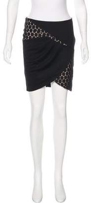 ALICE by Temperley Lace-Trimmed Mini Skirt