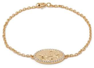 Theodora Warre - St Christopher Gold Plated Bracelet - Womens - Gold