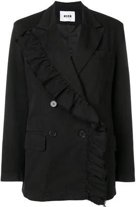 MSGM ruffle trim blazer