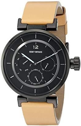 Issey Miyake Women's SILAAB04 W Mini Analog Display Quartz Brown Watch