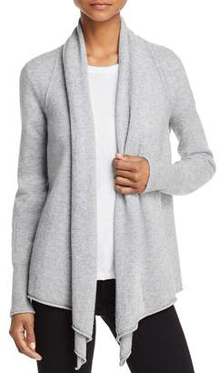 Aqua Drape Front Cashmere Cardigan - 100% Exclusive