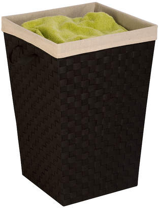 Honey-Can-Do Woven Hamper with Liner, Black