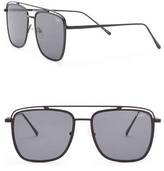Quay Mr. Black Modified Navigator Sunglasses