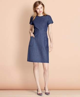 Brooks Brothers Denim A-Line Dress
