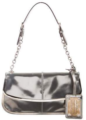 Dolce & Gabbana Metallic Leather Shoulder Bag