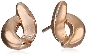 Sterling Silver -Plated Open Circle Swirl Stud Earrings