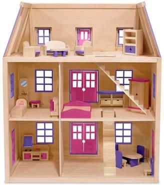 Melissa & Doug Multi Level Wooden Dollhouse