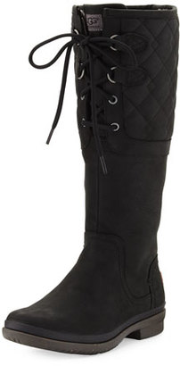 UGG Elsa Deco Quilted Waterproof Boot, Black $250 thestylecure.com