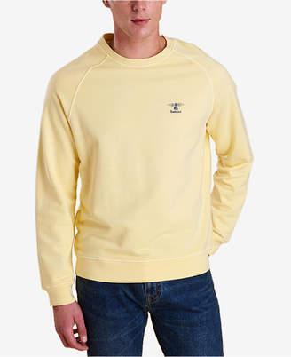 Barbour Men's Pike Garment-Dyed Raglan-Sleeve Fleece Sweater