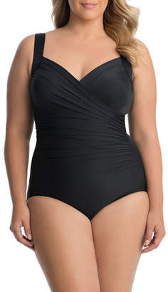 Miraclesuit Plus Size Sanibel Draped One-Piece Swimsuit