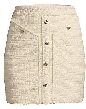 Maje Women's Mini Tweed Pencil Skirt