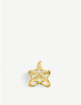 Thomas Sabo Starfish 18ct yellow-gold and zirconia ring