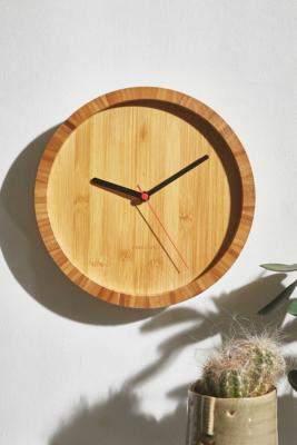 Karlsson Bamboo Wall Clock