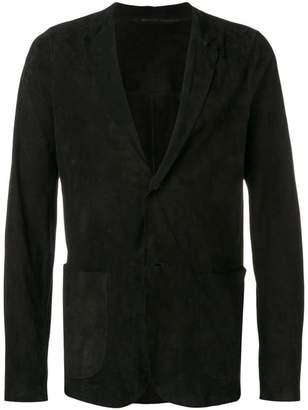 Salvatore Santoro v-neck suede jacket