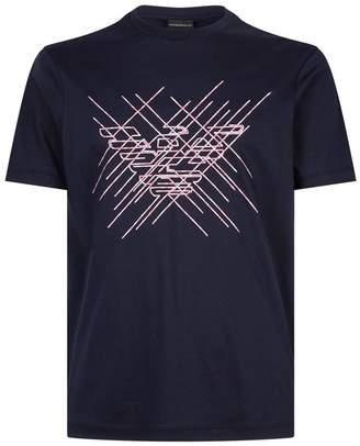 Emporio Armani Cotton Artistic Eagle T-Shirt