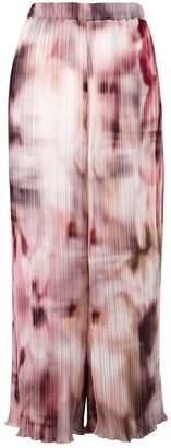 Ermanno Gallamini blurry print cropped trousers