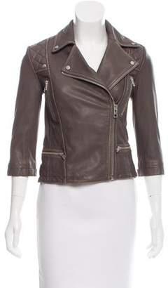 AllSaints Structured Leather Jacket