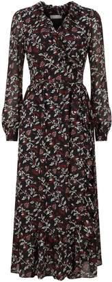 MICHAEL Michael Kors Floral Wrap Midi Dress