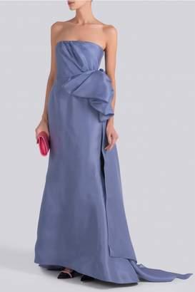 Carolina Herrera Gazar Bow and Fishtail Gown
