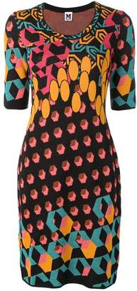 M Missoni colour-block fitted dress