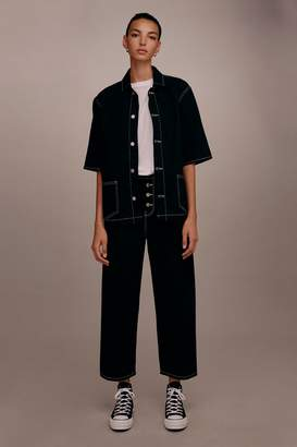 Topshop Womens **Button Up Jean By Boutique - Black
