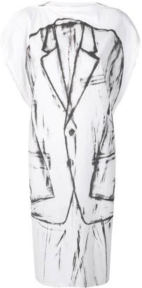 MM6 MAISON MARGIELA tuxedo print dress