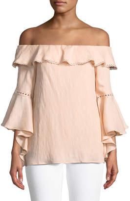 J.o.a. 3/4-Sleeve Off-The-Shoulder Blouse