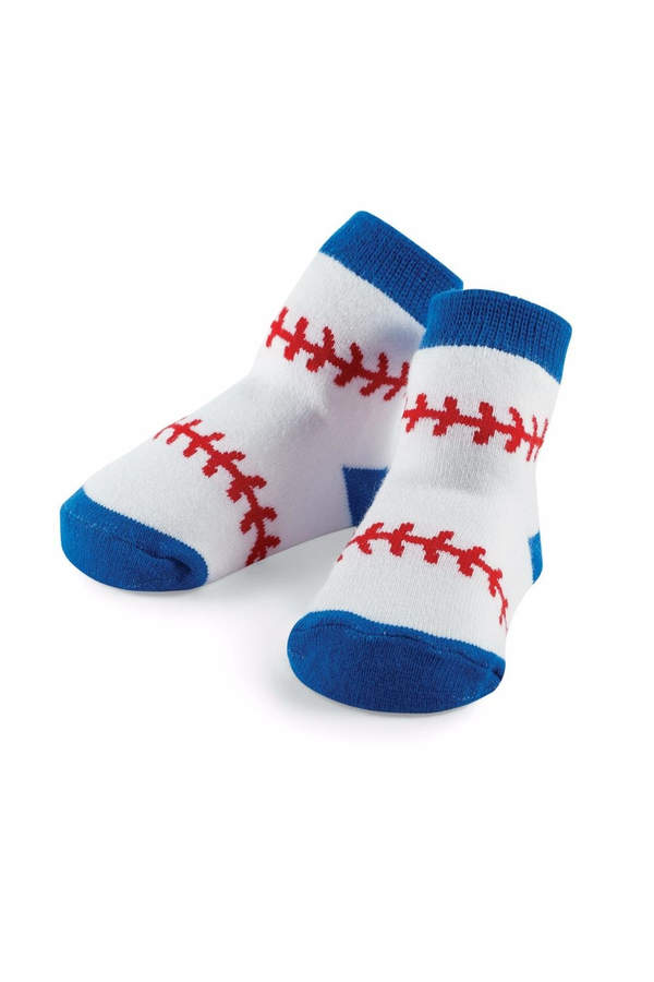Baseball Print Socks