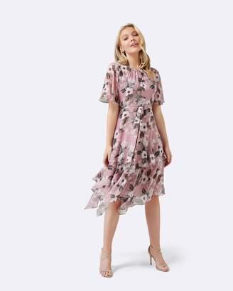 Petite Nancy Cape Sleeve Midi Dress