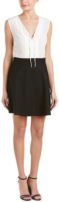 Sandro Rupa Silk Top A-Line Dress