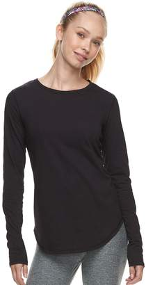 Tek Gear Women's Crewneck Long Sleeve Tee