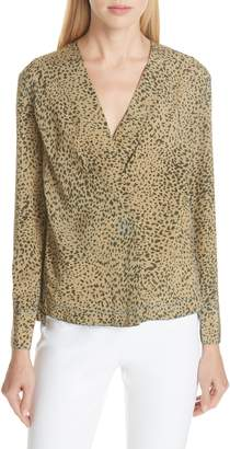 Rag & Bone Shields Leopard Print Silk Top