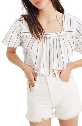Madewell Stripe Square Neck Top