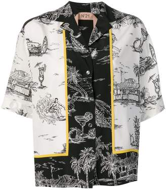 No.21 Beach drawing-prints shirt