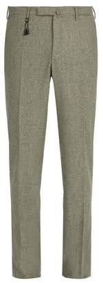 Incotex Slim Fit Wool Trousers - Mens - Light Grey