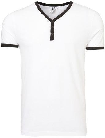 Topman White Baseball T-Shirt