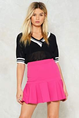 Nasty Gal Flip Em' Off Ruffle Mini Skirt
