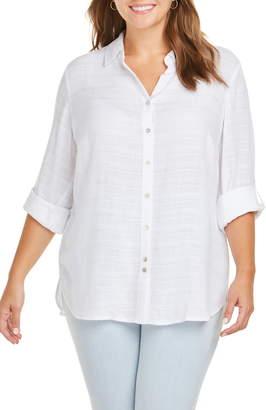 Foxcroft Amber Dobby Stripe Shirt