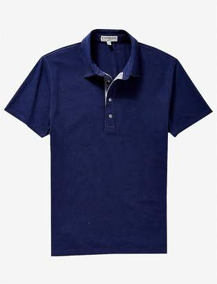 Express Chambray Placket Performance Polo