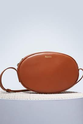 Repetto Oval leather shoulder bag