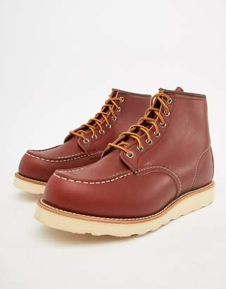 Red Wing Shoes 6 Inch Classic moc toe boots in oro russet leather