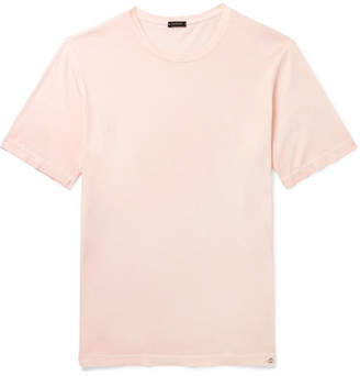 Incotex Garment-Dyed Cotton-Jersey T-Shirt - Men - Pink